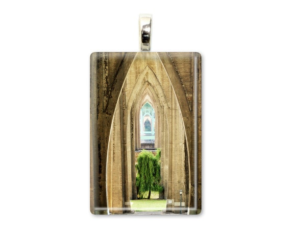 """Tree Jewelry """"Willow of Cathedral Park"""" Tree Necklace, Tree Pendant, Photo Jewelry, Photo Necklace, Glass Tile Photo Pendant, Art Jewelry"""