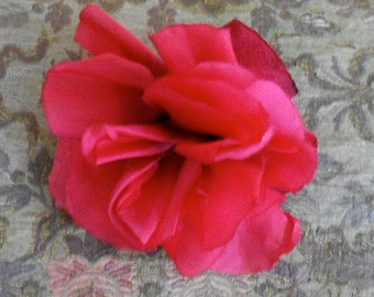 1930's Red Silk Rose
