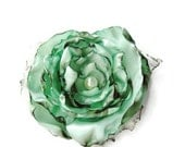 Seafoam Green, Aqua blue green mint flower accessory, Wedding Hair Flower, Bridal Sash, Maternity Sash