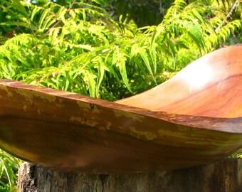 Oval shaped natural edge apple bowl