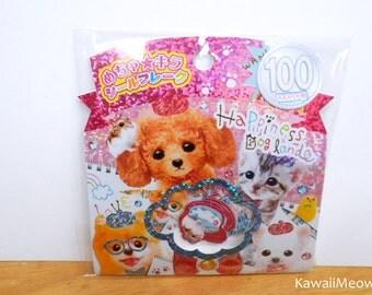 Kamio Japan Sticker Flakes - Happiness Dog Land - 61 Pieces (45547)