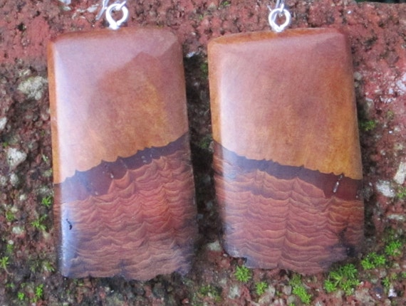 Mountain Mahogany  Earrings- Wooden Earrings in Reclaimed Mountain Mahogany- Wood Jewelry   063