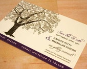 Reserved for Sharon Mower, Balance of Oak Tree Save the Date Card