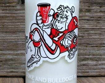 UGA Bulldogs Upcycled Vintage Coke Bottle Soy Candle