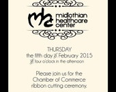 Ribbon Cutting Ceremony Printable PDF File using your logo - You Choose The Colors