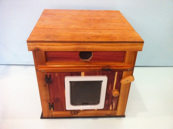 Large Outdoor Cedar Summer Cat House (Ships Next Bus. Day), bed, shelter, bed, condo