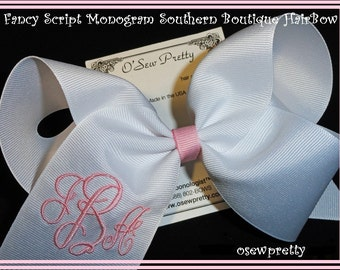 MONOGRAMMED HAIR BOWS,Personalized Hair bows for girls,Your initials on a hair bow,Southern Big Hair Bows,Girly Hair Accessories