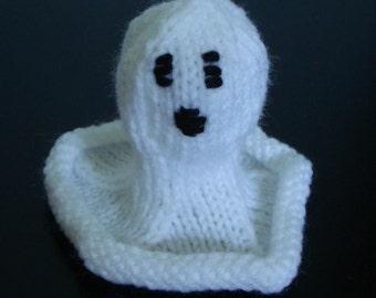 Knit Ghost Halloween Decoration Pattern
