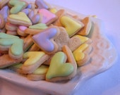 Mini HEART SUGAR COOKIES, Itty Bitty Sugar Cookies, 1/2 Pound