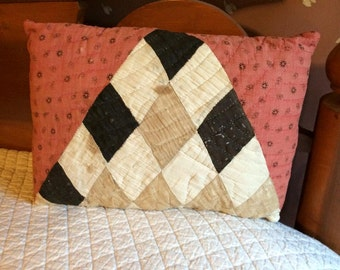 Vintage Handmade Pillow made from Antique Quilt