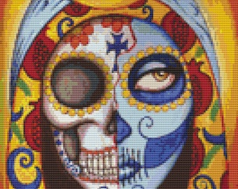 Small Cross Stitch Kit By Shayne of the Dead 'Our Lady of Guadalupe' Day of the Dead Embroidery