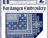 How to make Victorian Hardangen Embroidery-  vintage instructions pdf email delivery