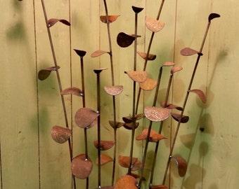 NEW - Wheedles - Garden stakes - rusted garden decor