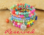 Reserved - Boho Bracelet, Layered Bracelet, Charms, Bohemian Jewelry, Boho Chic, Beaded Bracelet