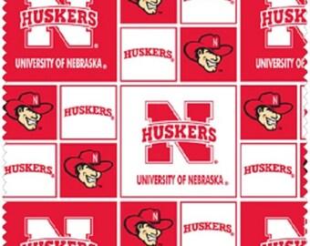 University of Nebraska Husker Fabric, Designer Cotton Quilt Fabric, Quilt Fabric, Red & White Fabric, END OF BOLT