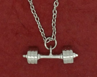 Barbell Necklace Dumbbell Weightlifting fitness