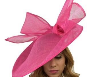 Fuchsia Pink Barn Owl Fascinator Hatinator Hat for Kentucky Derby, Weddings on a Headband (20 colours available)