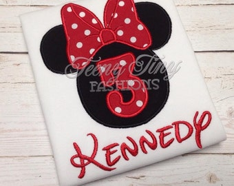 Minnie Birthday Party Shirt ~ Disney Birthday Shirt ~ 3rd Birthday Shirt ~ Birthday Shirt ~ vacation Birthday Outfit ~