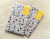 Flat Tracing Paper Gift Bags - morinonaka - Set of 6