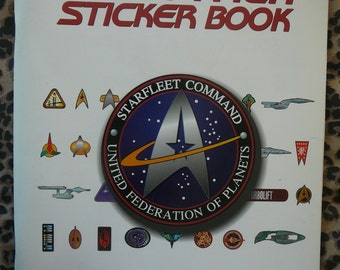 The Star Trek Sticker Book by Michael Okuda, Doug Drexler & Denise Okuda - Collectible