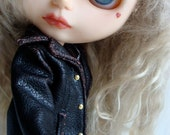 Leather Jacket for Blythe Jacket fits Blythe, Barbie and Pullip Very Detailed Steampunk Blythe