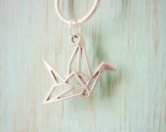 Origami Crane Pendant,Peace,Hope and Healing Charm
