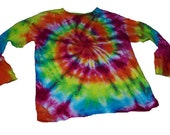 Tie Dyed Sunshine Rainbow Spiral Long Sleeve Toddler/Youth T Shirt