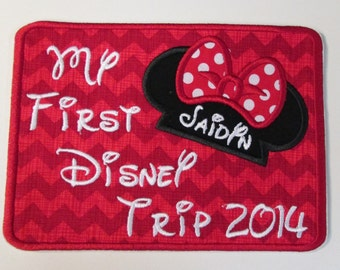 Iron On Applique Patch - My First Trip
