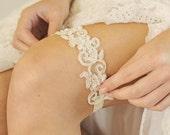 Bridal Garter | Lace Garter | Wedding Garter | Ivory Garter [Juliet Garter]