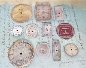 Vintage Antique Watch  Assortment Faces - Steampunk - Scrapbooking a13