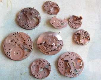 Featured - Steampunk supplies - Watch movements - Vintage Antique Watch movements Steampunk - Scrapbooking o44