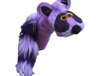 Purple Raccoon Couture Sockett® Sock Puppet