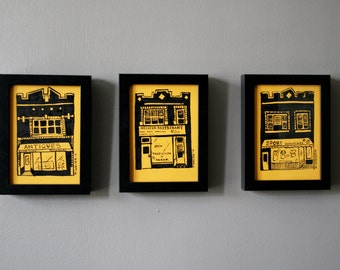 Original Art, Chicago Series: Set of Original Pen and Ink Drawings