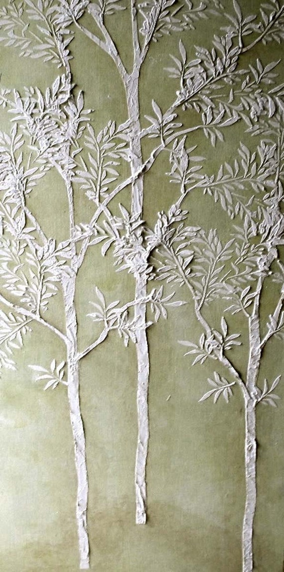 Large tree stencil plaster stencil life sized sapling for Large tree template for wall