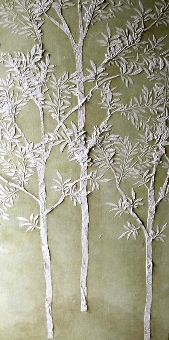 large tree template for wall - large tree stencil plaster stencil life sized sapling