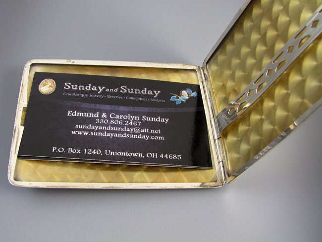 Cigarette case sterling silver 2.9 ounce Art Deco m126E&C