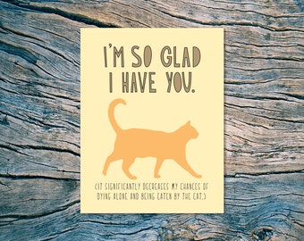 Eaten By The Cat - A2 folded note card & envelope