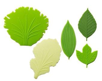 Leaf silicone reusable food divider decoration baran 5 pcs
