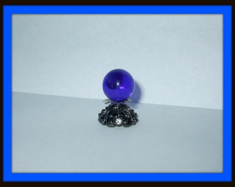 Gothic Witch Wizard Magic Crystalball with tiny crystals dollhouse miniature