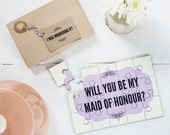 Personalised 'Will You Be My Maid Of Honour?' Jigsaw - Engagement Announcement Gift for Maids of Honour