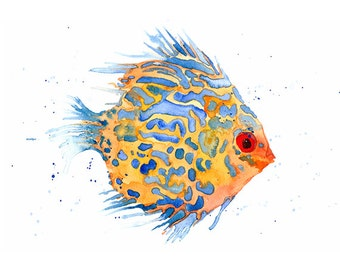 A4 Tropical Fish Art Print