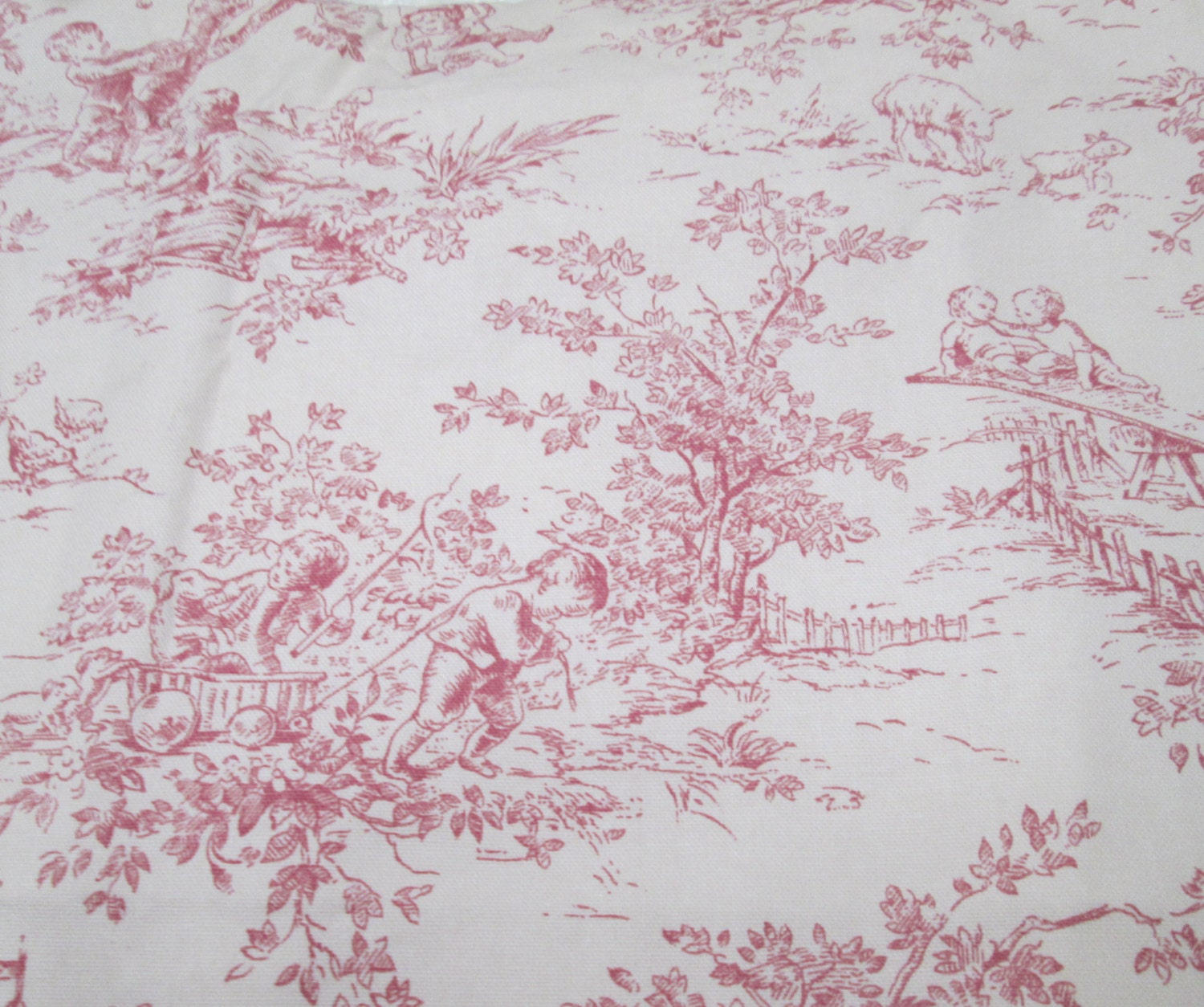 Decorating Ideas Toile Fabric: French Toile Fabric 1 Yd Home Decor Childrens Nursery