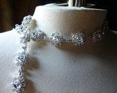 "10""  NEW Rhinestone Flowers Trim  for Bridal Sashes, Headbands, Jewelry"