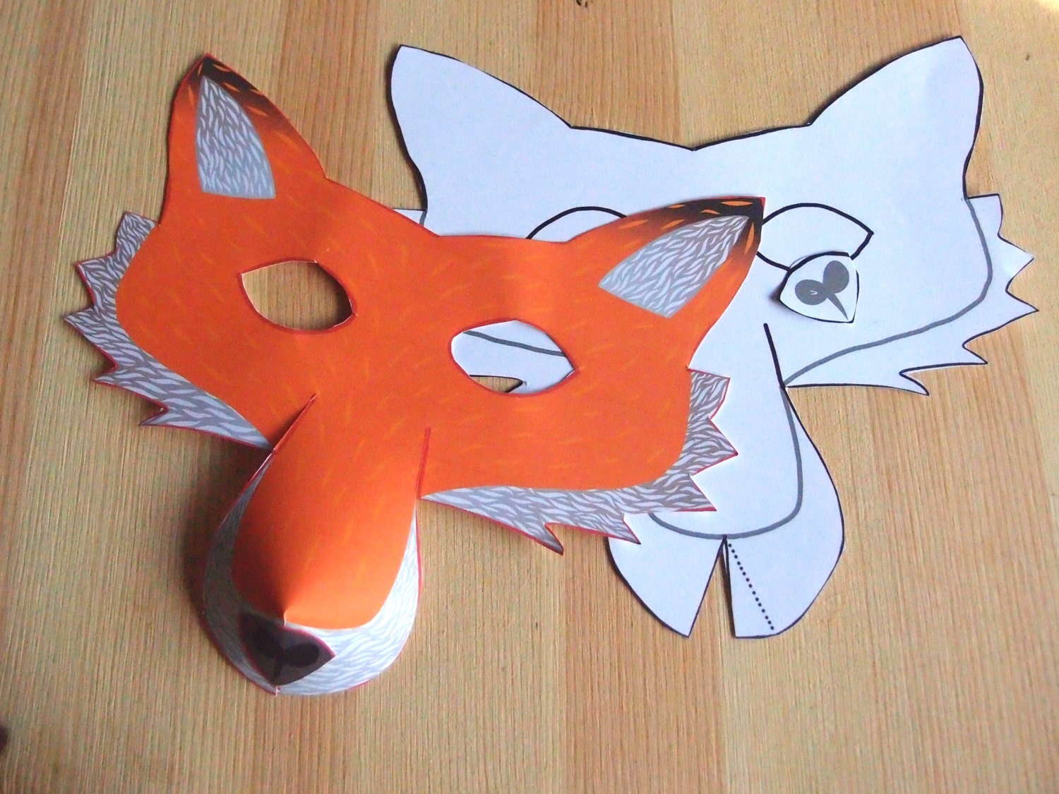 Clean image inside printable fox mask