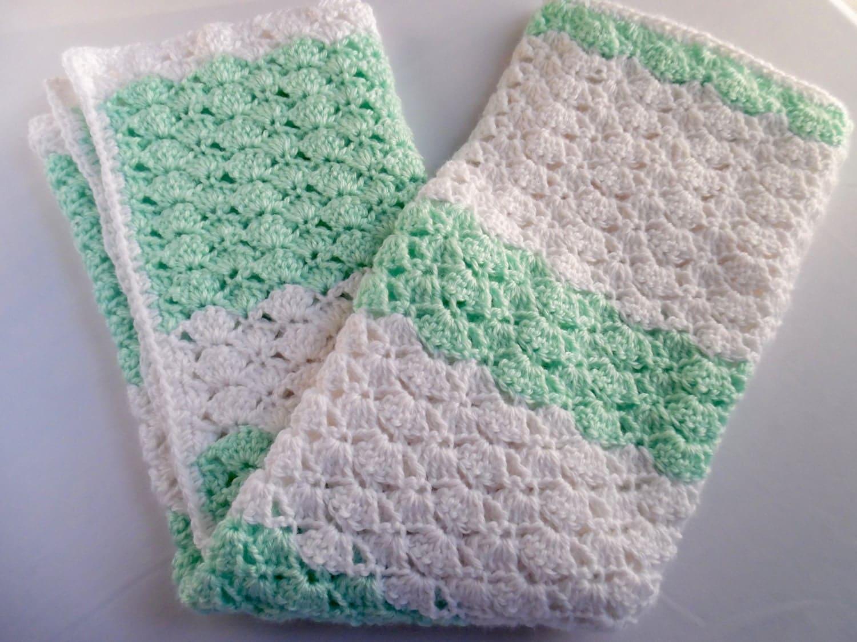 Crochet Baby Blanket Modern Baby Blanket Neutral Crochet