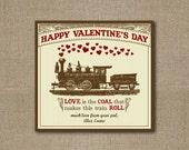 Printable Vintage Train Valentines