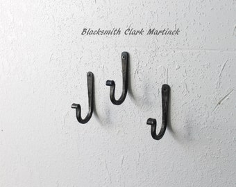 Blacksmith hook, Unique home decor, metal hook, iron hook, wall hook, black metal hook