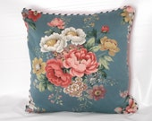 English cottage  Vintage pillow floral  cover ...cottage chic  farmhouse,shabby chic ,victorian, romantic home