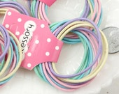45mm Pastel Color Blank Elastic Hair Bands - Make your own Cute Hair Ties - 20 pc set