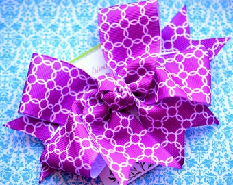 Purple Lattice XL Diva Bow